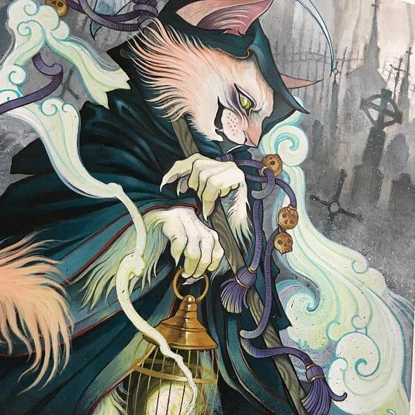 Teresa Sharpe cat fantasy painting