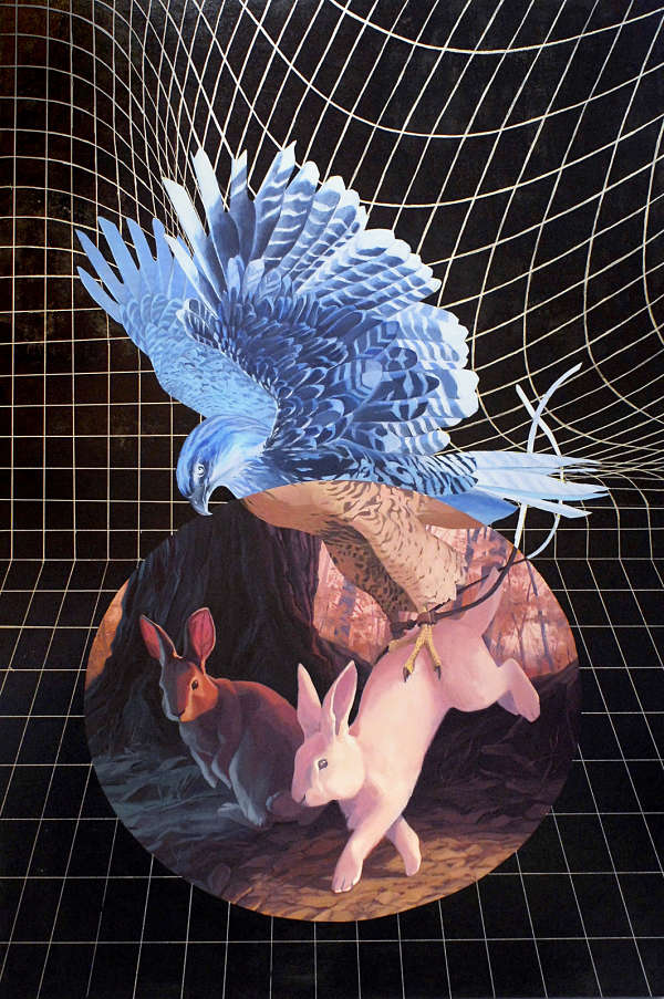Alexis Kandra Life on Spaceship Earth surreal from above painting