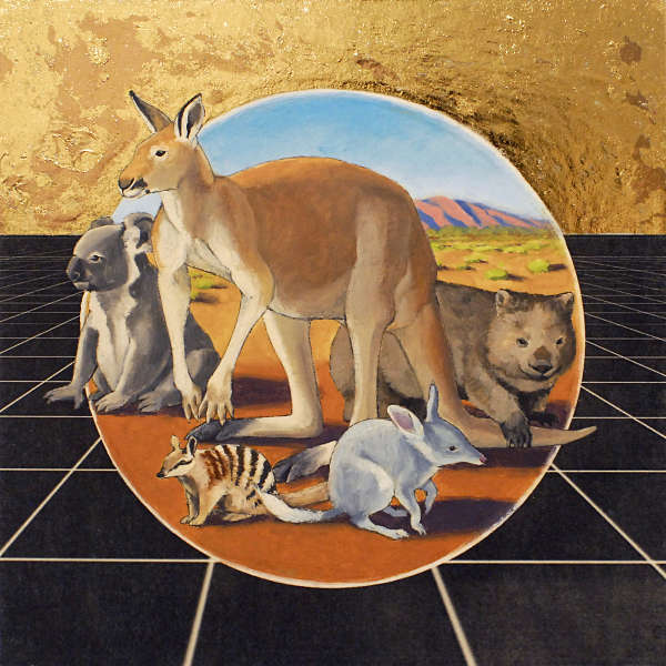 Alexis Kandra Life on Spaceship Earth surreal Australian outback painting