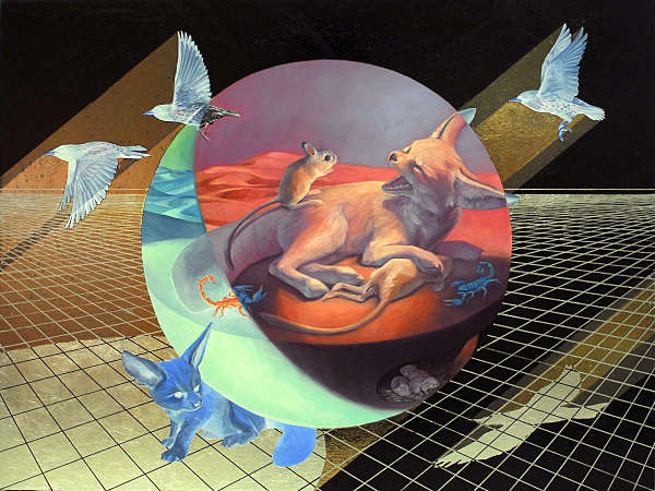 Alexis Kandra surreal animal painting
