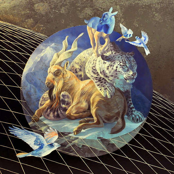 Alexis Kandra Life on Spaceship Earth surreal animal painting