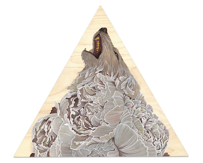 Brianna Reagan FEAST + FAMINE wolf painting