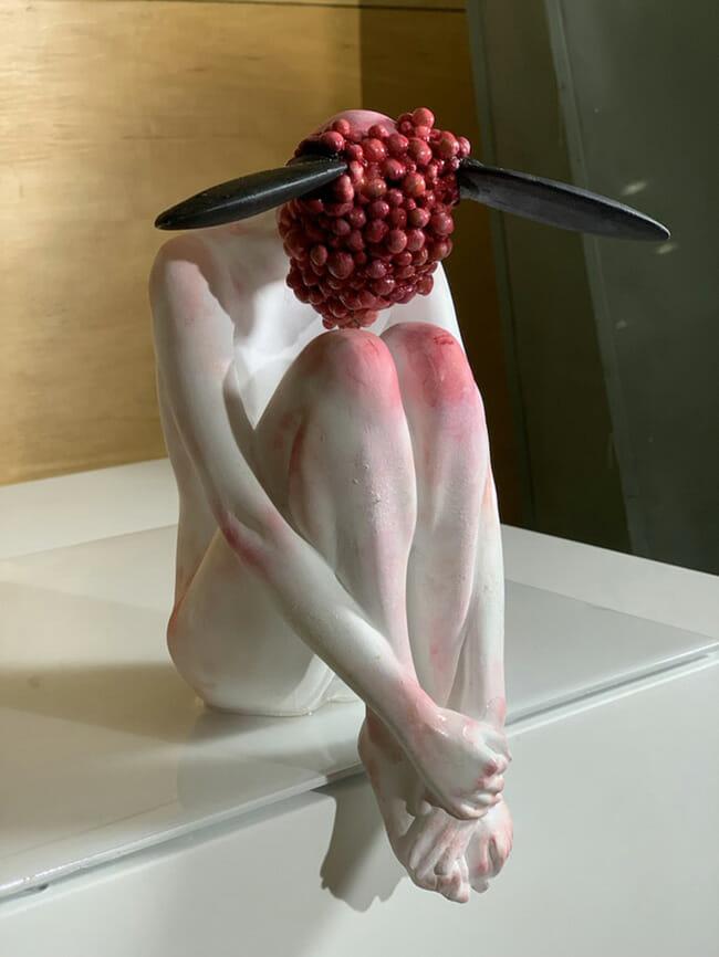 Ciane Xavier surreal figurative sculpture