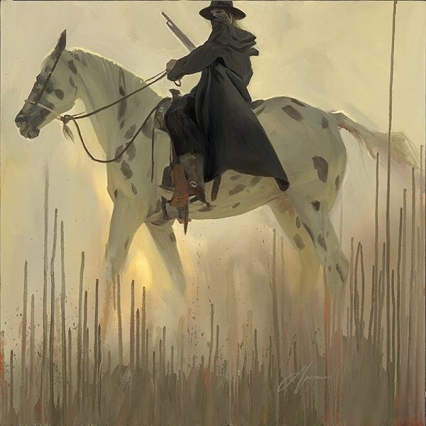 Gabe Leonard western outlaw painting