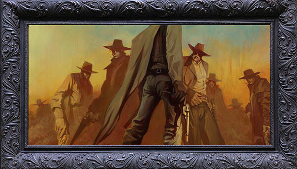 "Gabe Leonard ""No More bullshit"" western painting"