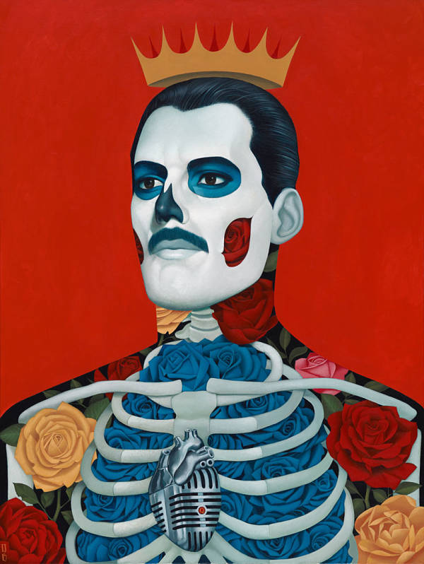 "Gustavo Rimada, ""Mercury"" Freddy Mercury painting"