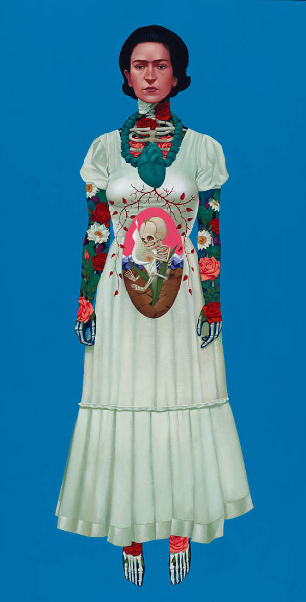 "Gustavo Rimada Frida Kahlo tattoo painting ""Rebirth"""