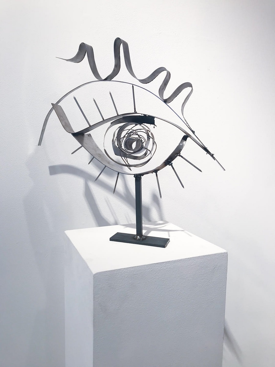Indira Cesarine eye sculpture
