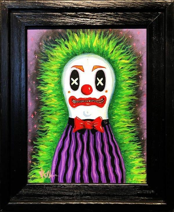 Jeremy Cross Circus Punk Clown dark art spookhaus painting