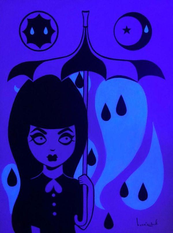 """Megan Besmirched Spooky lowbrow """"SPOOKHAUS!"""" art show"""