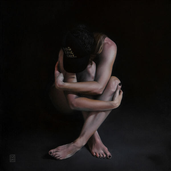 "Megan Read ""Great Expectations"" nude figurative painting"