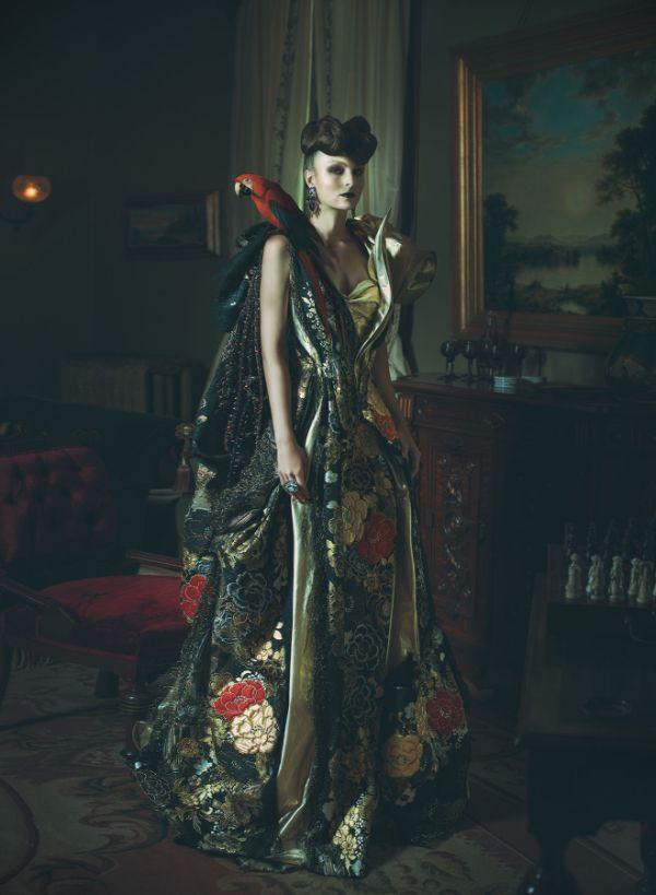 Miss Aniela Natalie Lennard Woman Opulent Gown Photograph