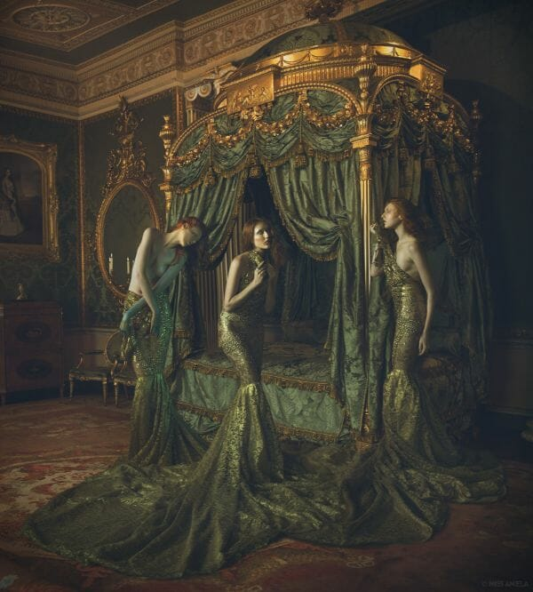Miss Aniela Natalie Lennard Three Women In Gowns Photograph