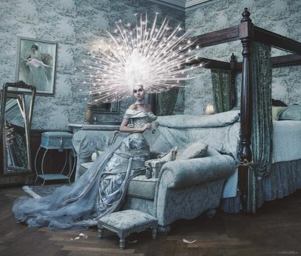Miss Aniela Natalie Lennard Woman Starburst Headdress Photograph