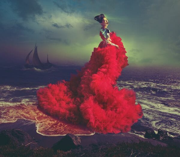 Miss Aniela Natalie Lennard Woman Red Sea Ship Photograph