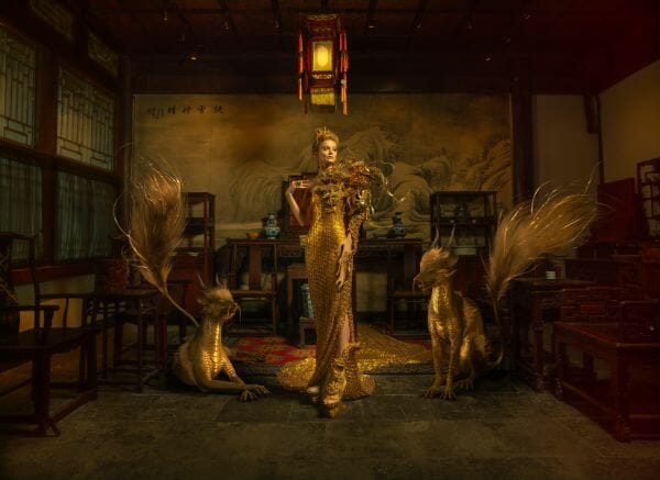Miss Aniela Natalie Lennard Gilded Asian Photograph