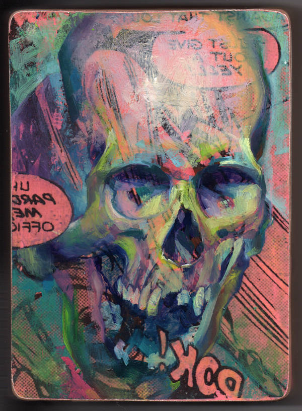 "Rick Price ""Dear Lovely Death"" surreal skull painting"