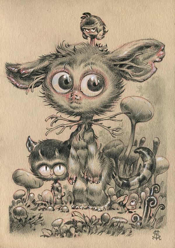 """Stan Manoukian """"Three Friends"""" three friends illustration"""