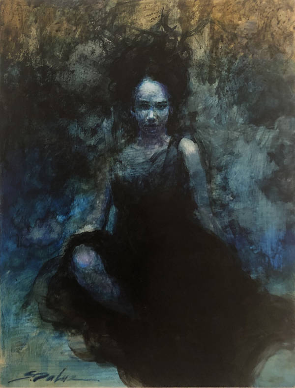 "Steven DaLuz ""The Black Dress"" dark art"