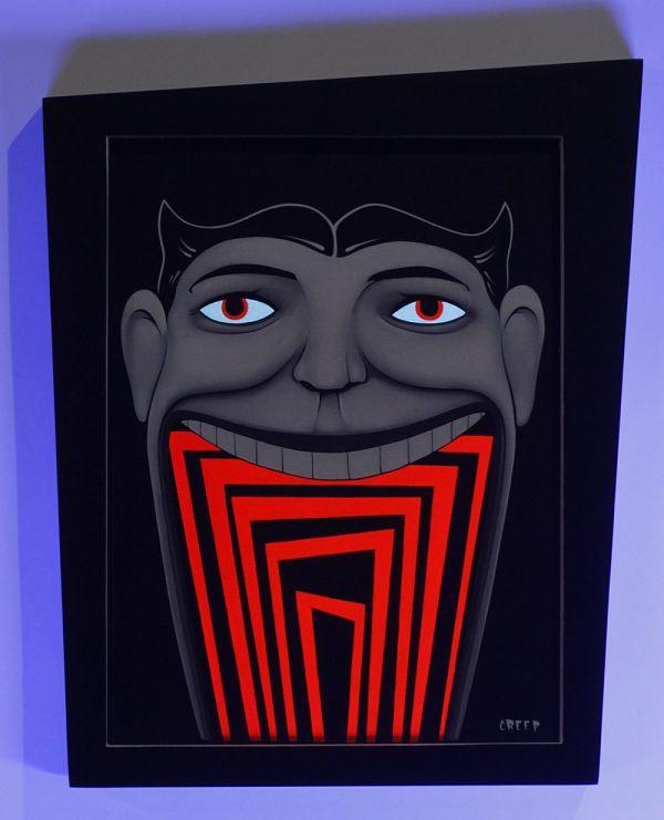 "The Creep Spookhaus black light ""SPOOKHAUS!"" painting"