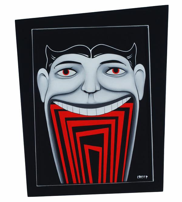 The Creep Spookhaus black light painting