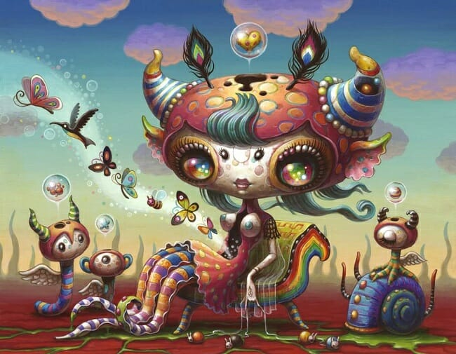 Yoko D'Holbachie pop surreal creature artwork