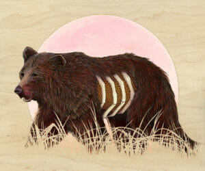 bear painting by brianna reagan new contemporary art pop surrealism