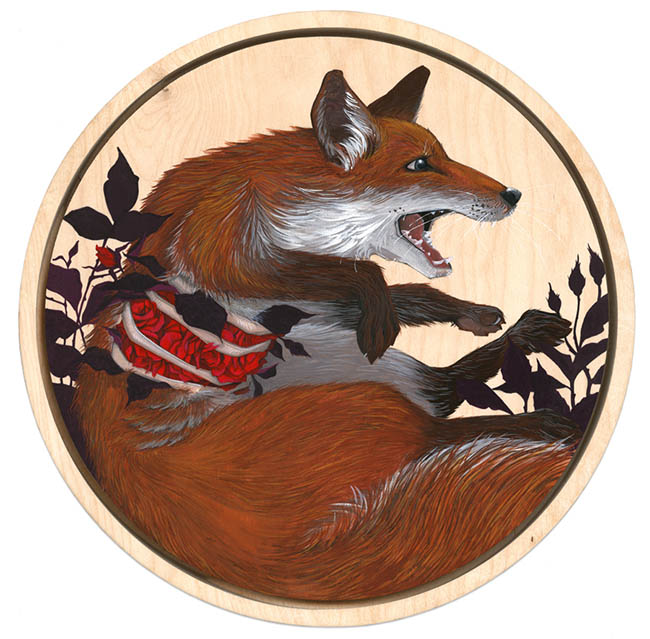 Brianna Reagan FEAST + FAMINE fox painting