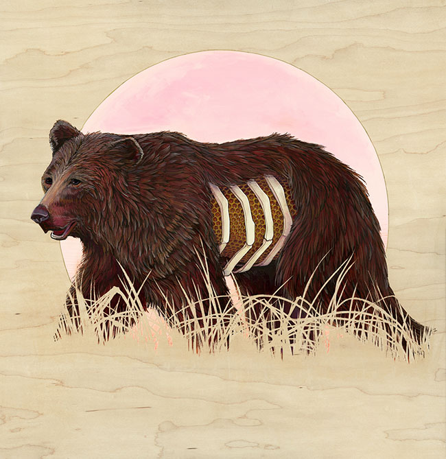 Brianna Reagan surreal bear painting