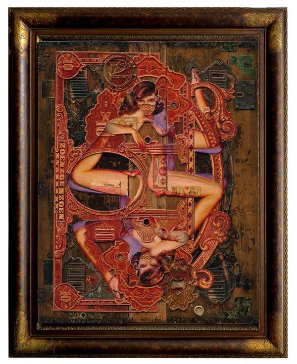 Handiedan tarot collage surreal nude art
