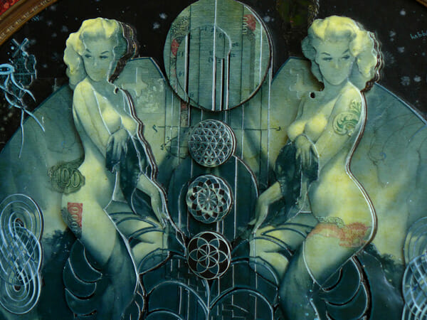 Handiedan collage close-up nude pin-up art