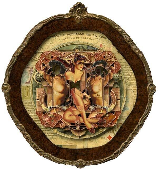 Handiedan pin-up collage nude art