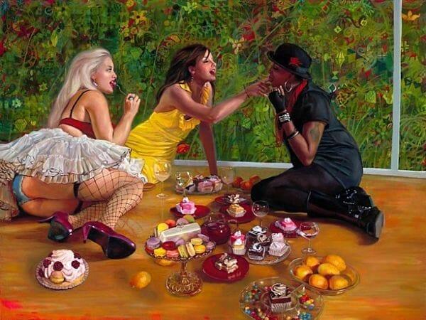 Natalia Fabia sugar party oil painting
