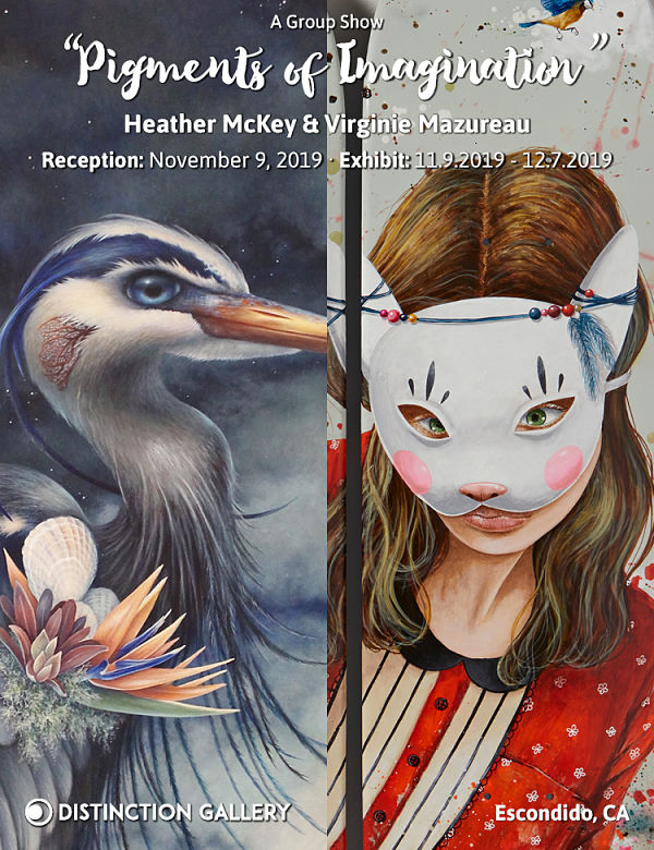 Heather McKey and Virginie Mazereau: 'Pigments of Imagination' at Distinction Gallery