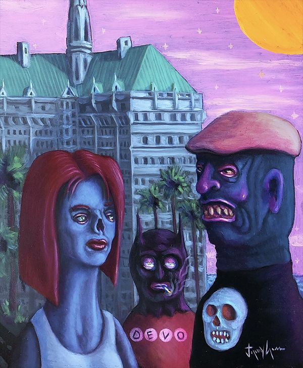 Jeremy Cross Devo Bat lowbrow art The Dark Art Emporium