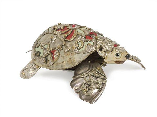 "Jessica Joslin ""Percival"", antique hardware and findings turtle sculpture"
