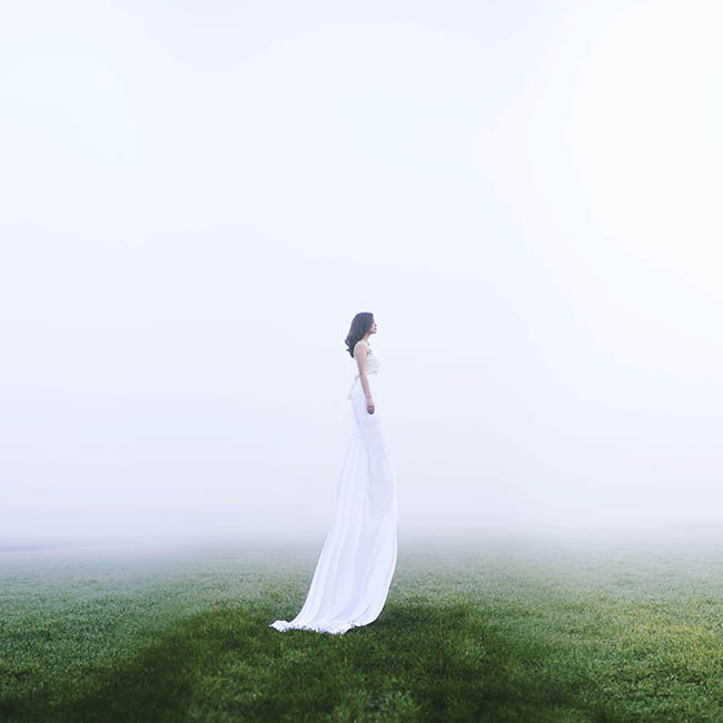 Jovana Rikalo long white dress