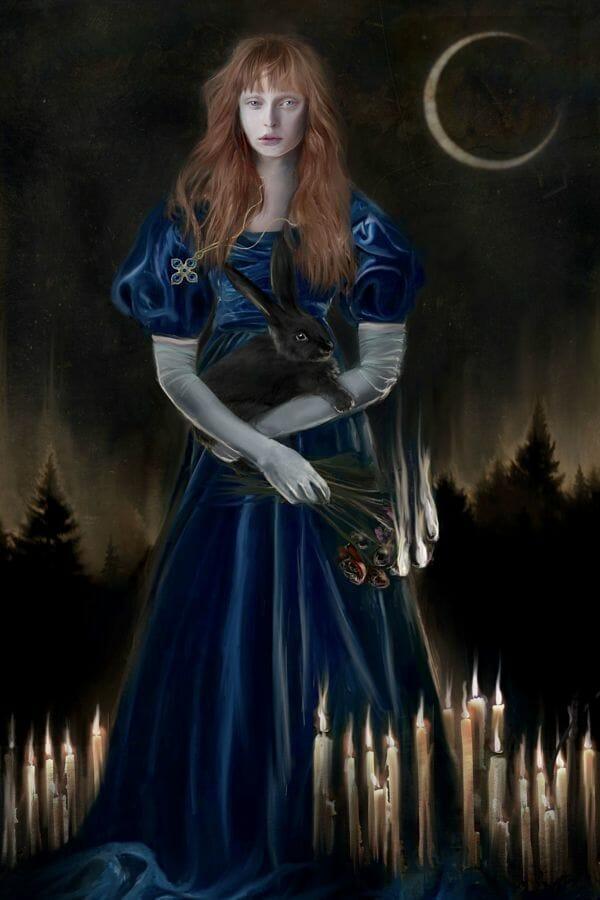 Juliana Loomer dark surrealism digital painting The Burning