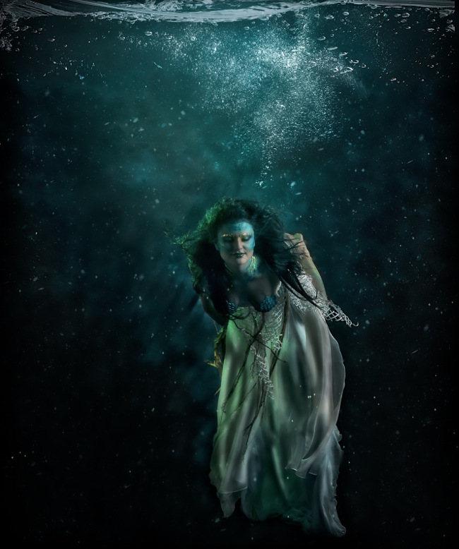 Lorena Cordero Yemaya underwater goddess photography