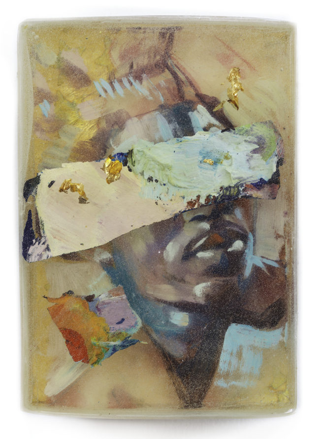 Marc Scheff mixed media resin portrait Scope Miami