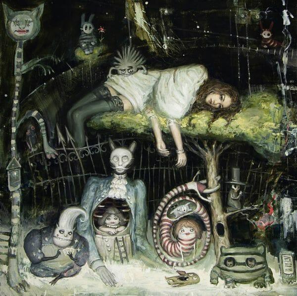 "Nadezda ""Under My Sleeping Tree"" surreal painting"