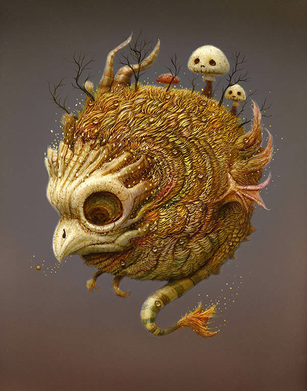 naoto hattori painting for the ritual art exhibition pop surrealism