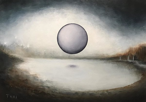 Patrick Thai Totality moon painting