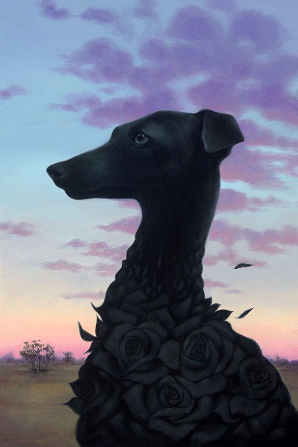 """Modern Eden x Haven Syd Bee """"Bitter Blooms 2"""" dog portrait"""