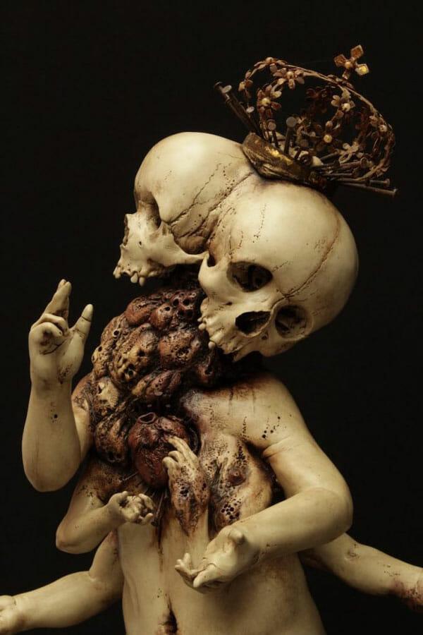 Emil Melmoth anatomical sculpture