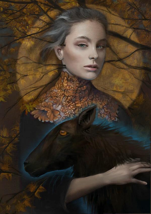 Juliana Loomer dark surrealism digital painting