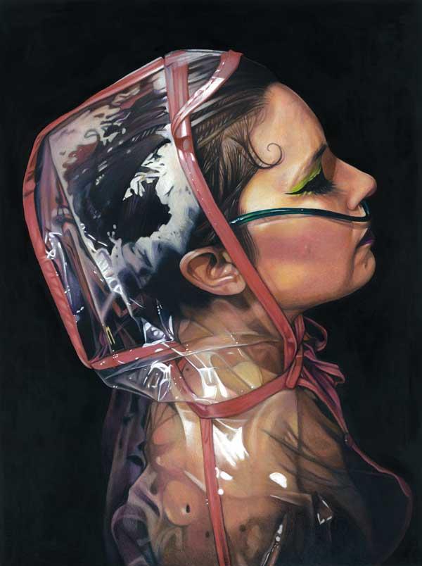 Tom Christophersen EcoGoth realistic portrait painting
