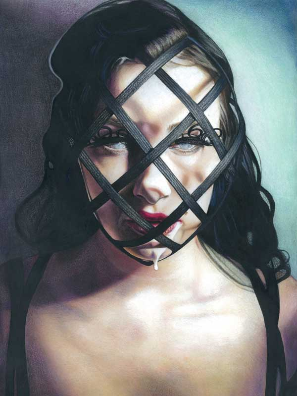 Tom Christophersen fetish realistic portrait painting