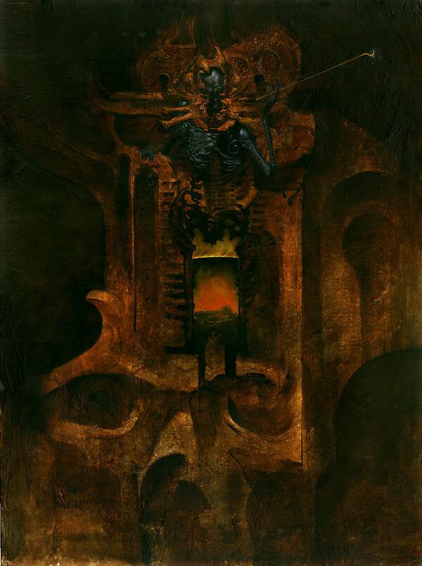 Allen Williams dark art painting
