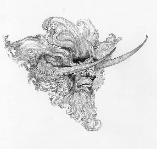 Allen Williams faun drawing
